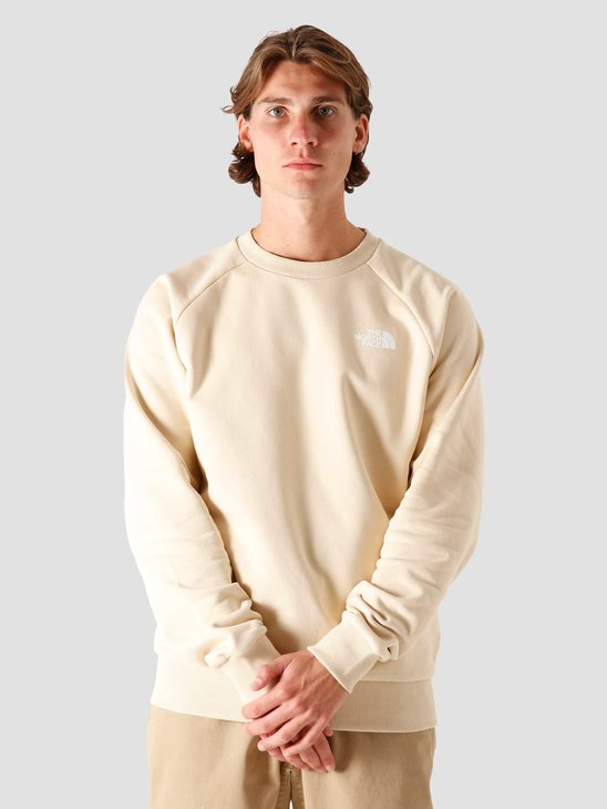The North Face Raglan Redbox Crewneck Bleached Sand NF0A4SZ9RB6