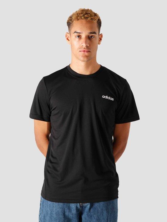 adidas M D2M Pl T-Shirt Black White FL0286