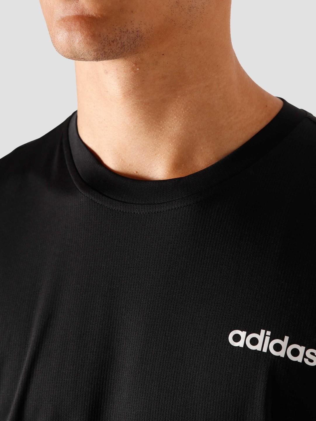 adidas adidas M D2M Pl T-Shirt Black White FL0286