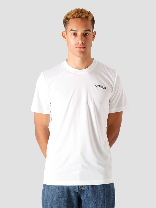 adidas M D2M Pl T-Shirt White Black FL0288