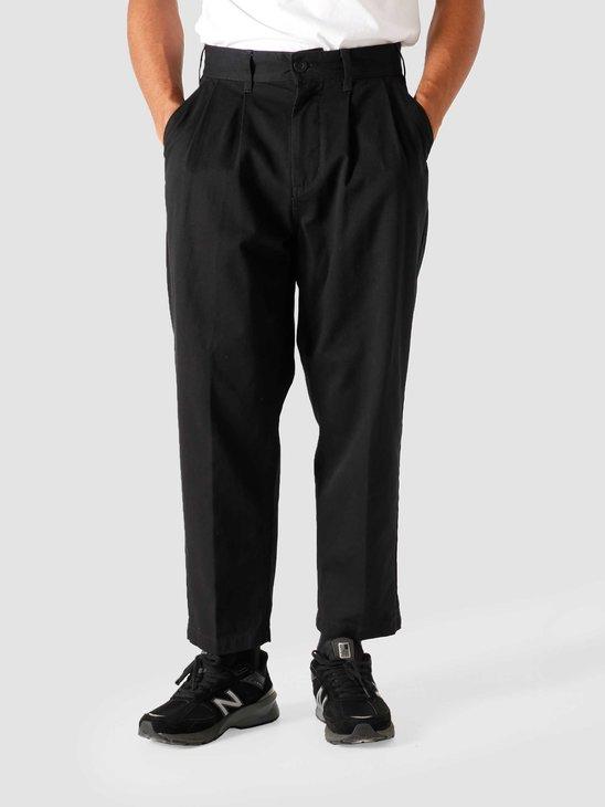 Obey Fubar Pleated Pant Black 142020106