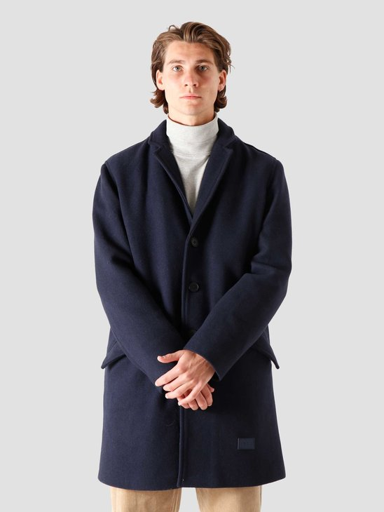 Quality Blanks QB201 Wool Coat Navy