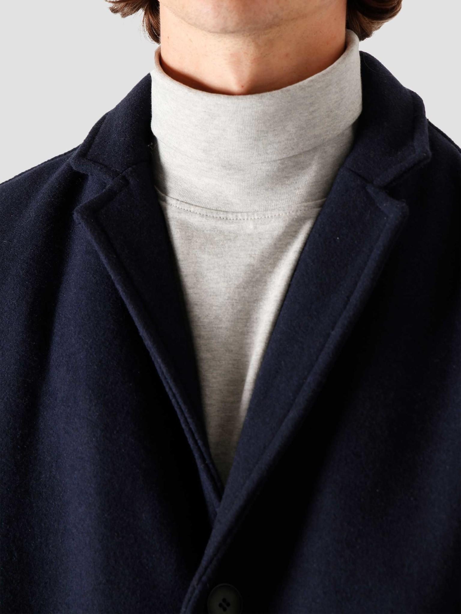 Quality Blanks Quality Blanks QB201 Wool Coat Navy