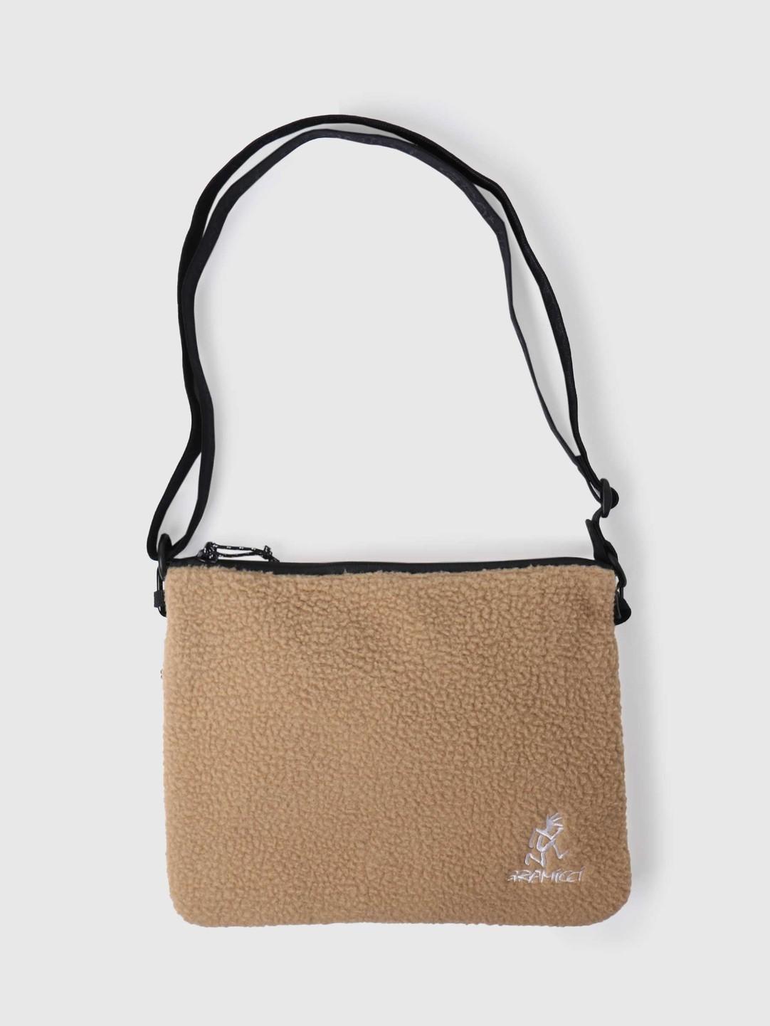 Gramicci Gramicci Boa Fleece Adjustable Sacoche Beige GRB-0091