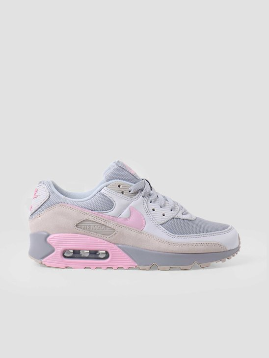 Nike Air Max 90 Vast Grey Pink Wolf Grey String CW7483-001