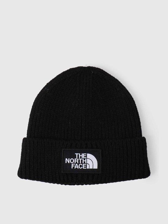The North Face Logo Box Cuffed Beanie Black NF0A3FJXJK3