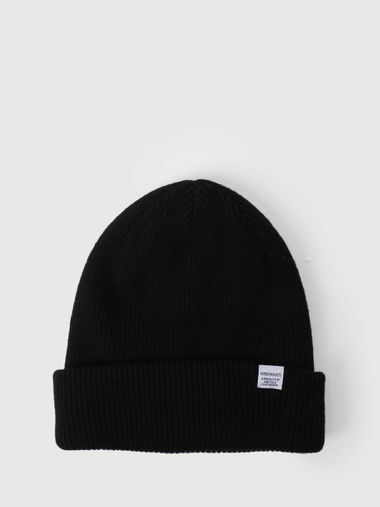 Norse Projects Norse Beanie Black N95-0569-9999