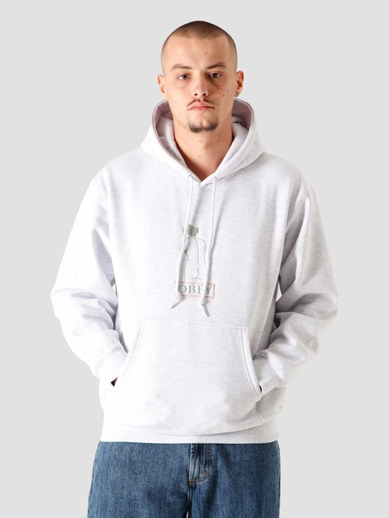 Obey Statue Hoodie Ash Grey 112470113AGRY