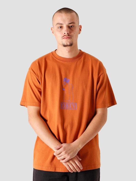 Obey Venus Heavy Weight Classic Box T-Shirt Pumpkin Spice 166912355PSC