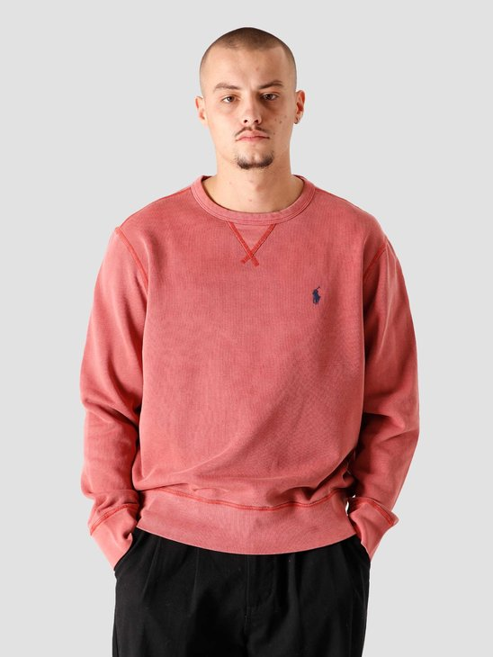 Polo Ralph Lauren Garment Dyed Knitted Sweater Red Brick 710792815005