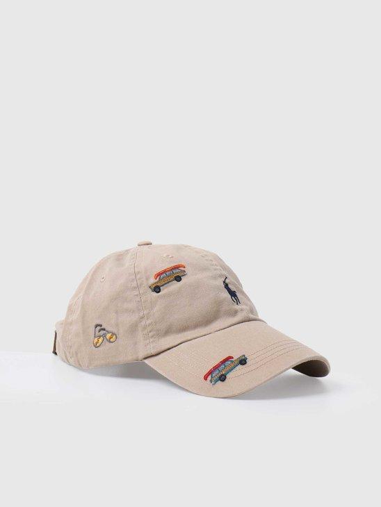 Polo Ralph Lauren Classic Sport Cap Hat Luxury Tan W Wagon Emb 710813152002