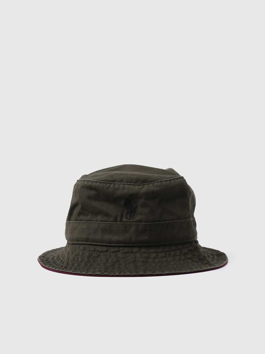 Polo Ralph Lauren Loft Bucket Hat Company Olive 710798567004