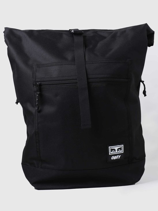 Obey Conditions Roll Top Bag Iii Black 100010138BLK