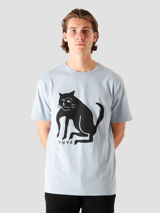 by Parra Cat T-Shirt Dusty Blue 44280