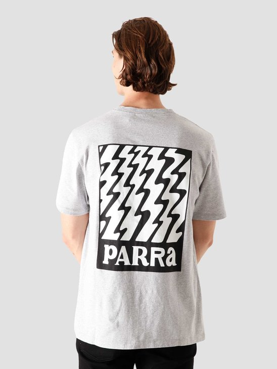 by Parra Static Logo T-Shirt Heather Grey 44270