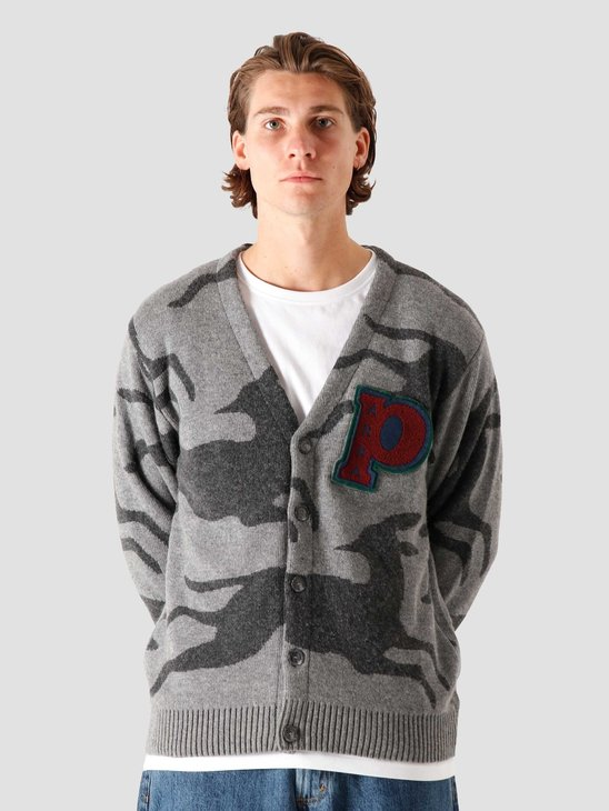 by Parra Jumping Foxes Knitted Cardigan Grey 44320