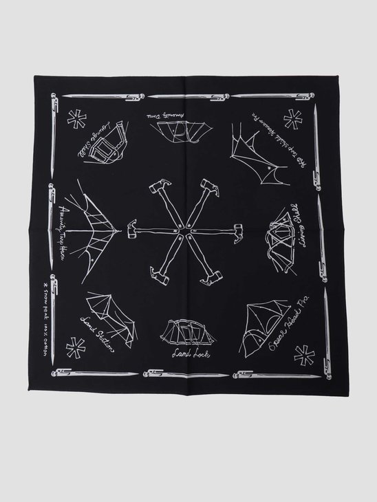 Snow Peak Organic Cotton NOASOBI Bandana Black UG-885