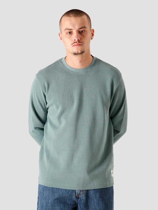 Obey Bold Label Thermal Longsleeve Knit Oil Blue 131030101BLU