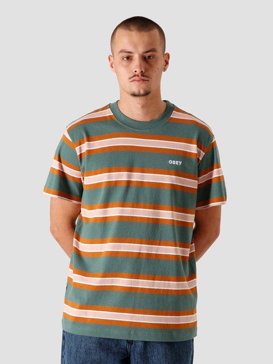 Obey Logan T-Shirt Green Multi 131080274GMU