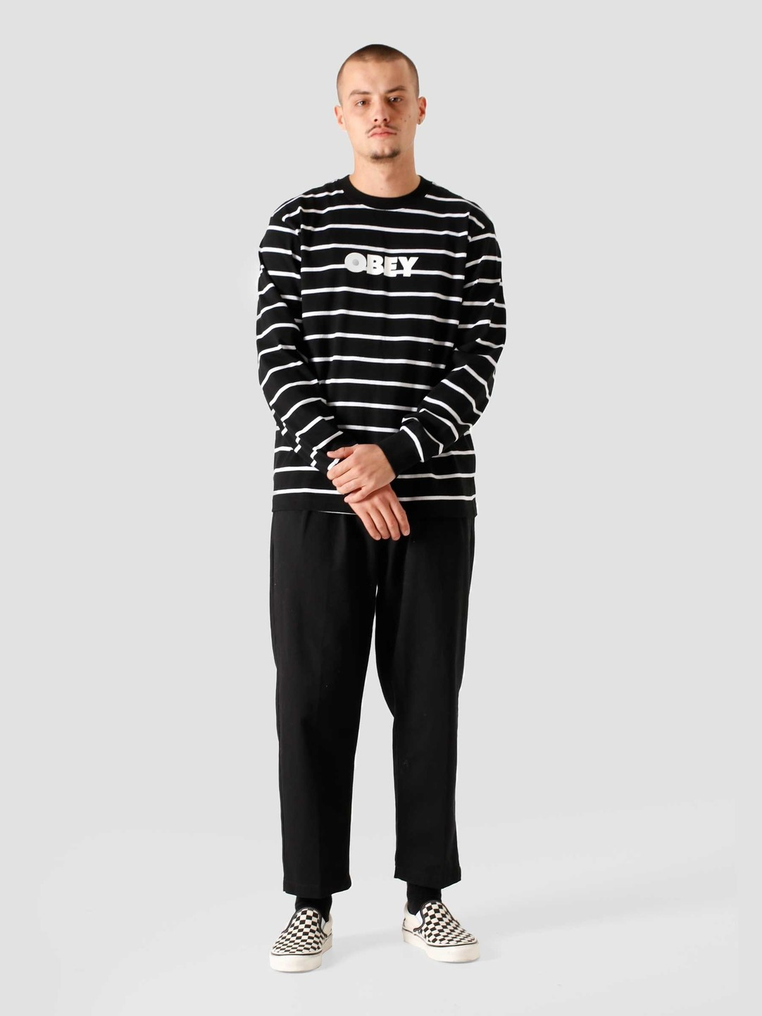 Obey Obey Division Longsleeve Black Multi 131030100BKM