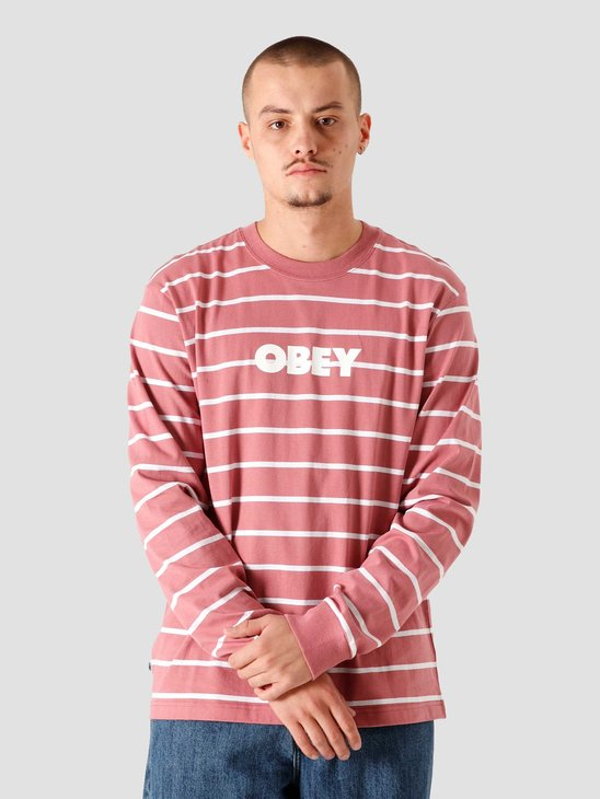 Obey Division Longsleeve Rose Multi 131030100ROS