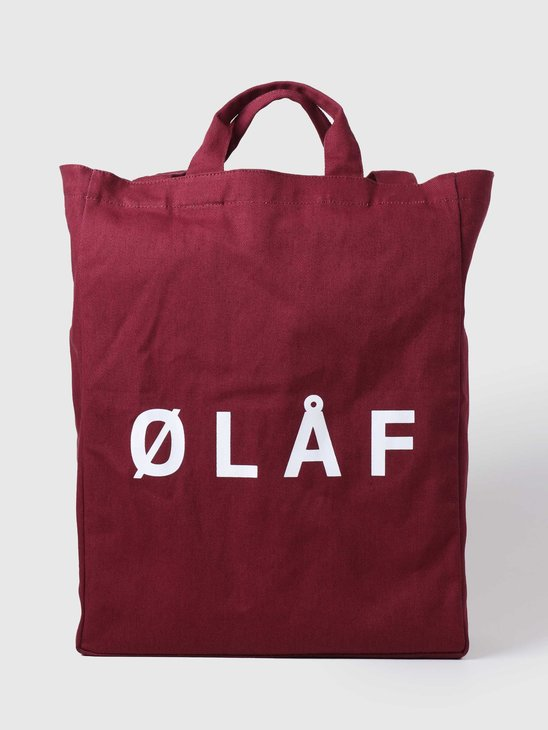 Olaf Hussein OH Tote Bag Brick Red