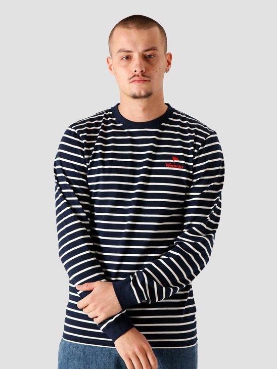 Wemoto Smith Stripe Sweater Navy Blue 161.221-400