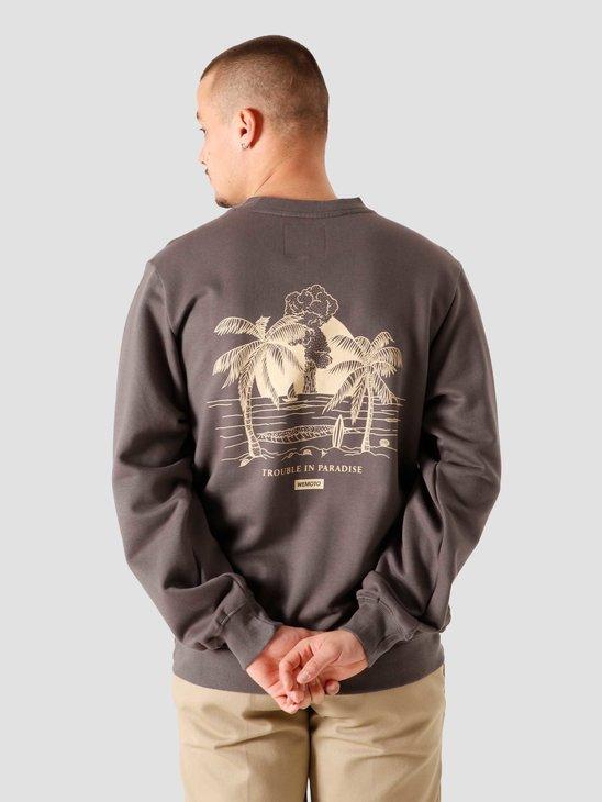 Wemoto Tip Crewneck Sweater Charcoal 161.448-333