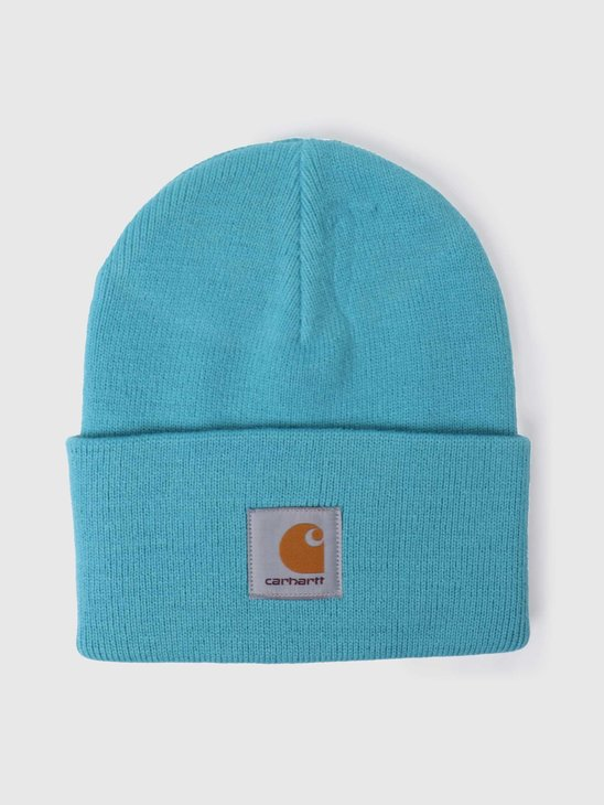 Carhartt WIP Acrylic Watch Beanie Frosted Turquoise I020222-0F600