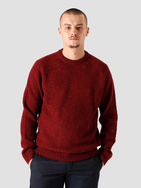 Carhartt WIP Anglistic Sweater Bordeaux Heather I010977-7600