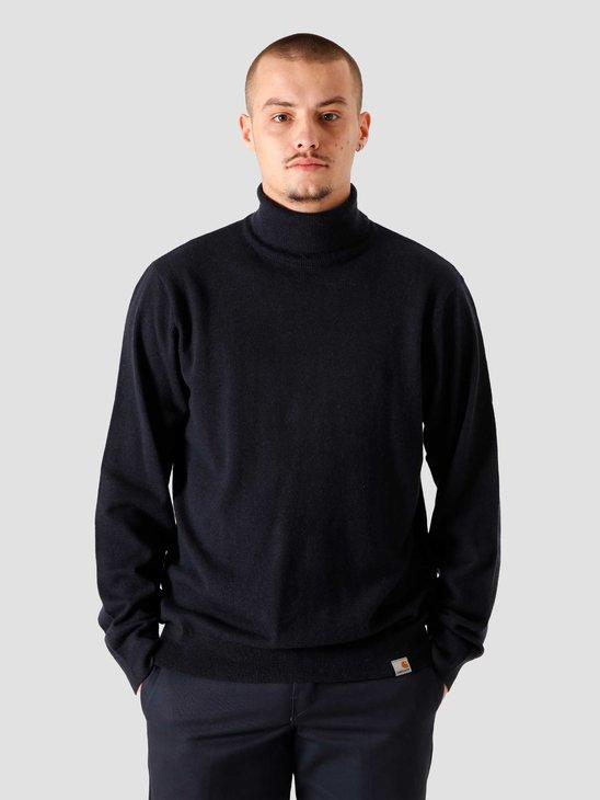 Carhartt WIP Playoff Turtleneck Sweater Dark Navy I023368