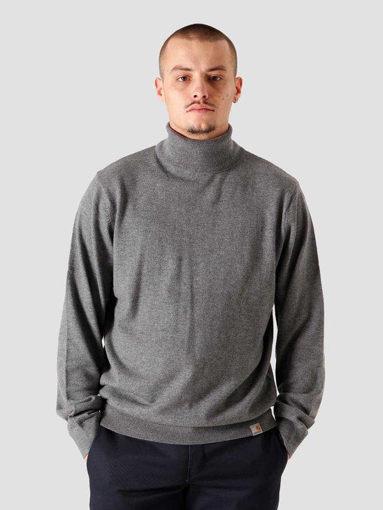 Carhartt WIP Playoff Turtleneck Sweater Dark Grey Heather I023368-ZM00