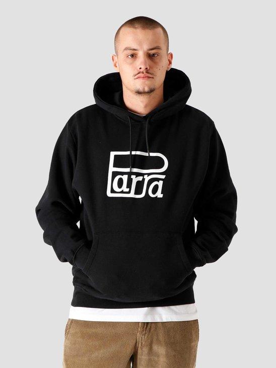 by Parra Race Logo Hooded Sweatshirt Black 44310