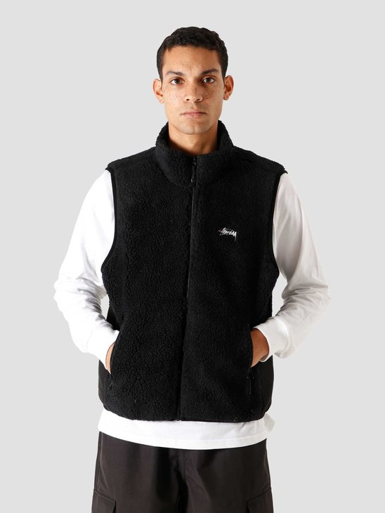 Stussy Block Sherpa Vest Black 118390-0001