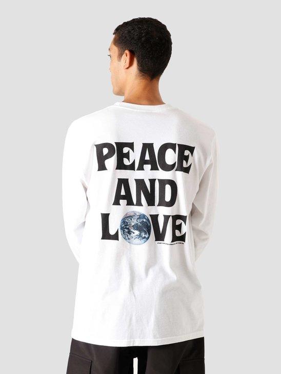 Stussy Peace & Love Longsleeve White 1994600-1201