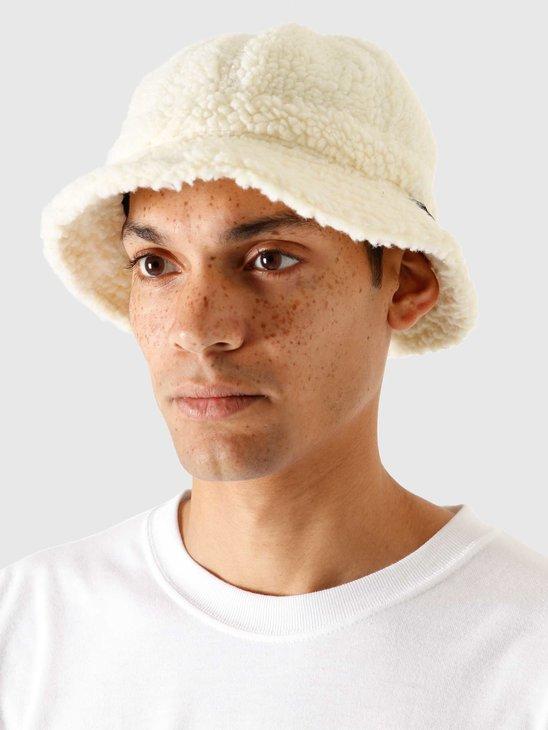 Stussy Sherpa Fleece Bell Bucket Hat Natural 132993-1002