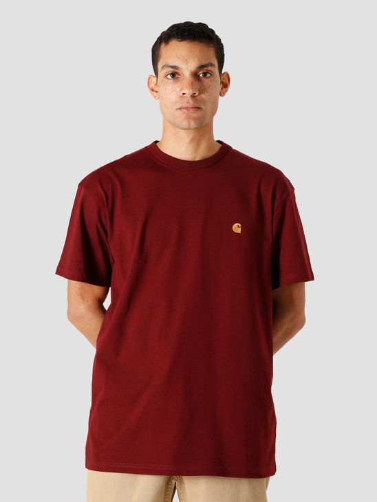 Carhartt WIP Chase T-Shirt Bordeaux Gold I026391-JD90