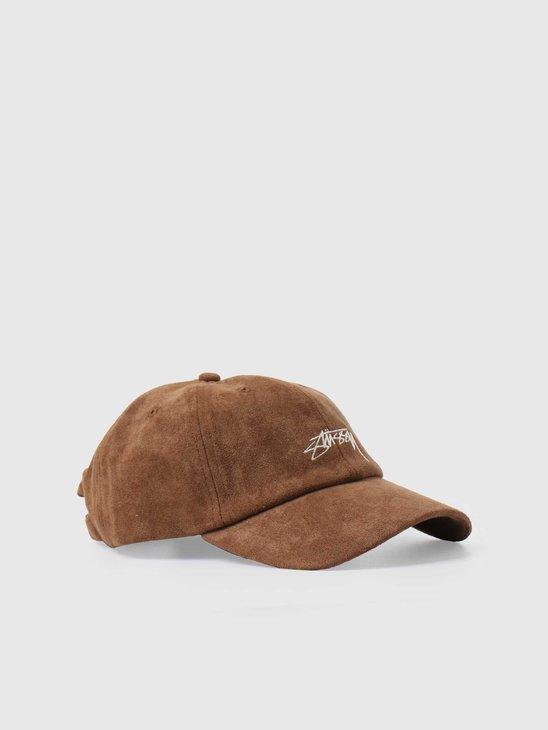 Stussy Microfiber Low Pro Cap Brown 131958-1001