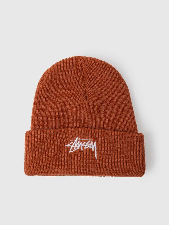 Stussy Stock Cuff Beanie Burnt Orange 132986-18892