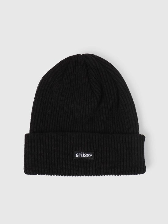 Stussy Small Patch Watchcap Beanie Black 132988-0001