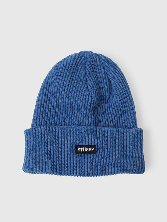 Stussy Small Patch Watchcap Beanie Blue 132988-0801