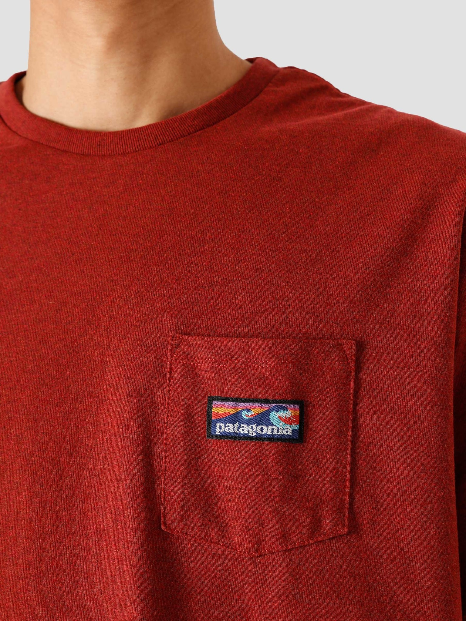 Patagonia Patagonia M's Boardshort Label Pocket Responsibili T-Shirt Barn Red 38510