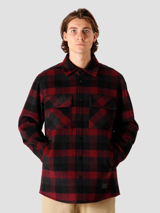 Quality Blanks QB44 Plaid Down Shirt Red Black