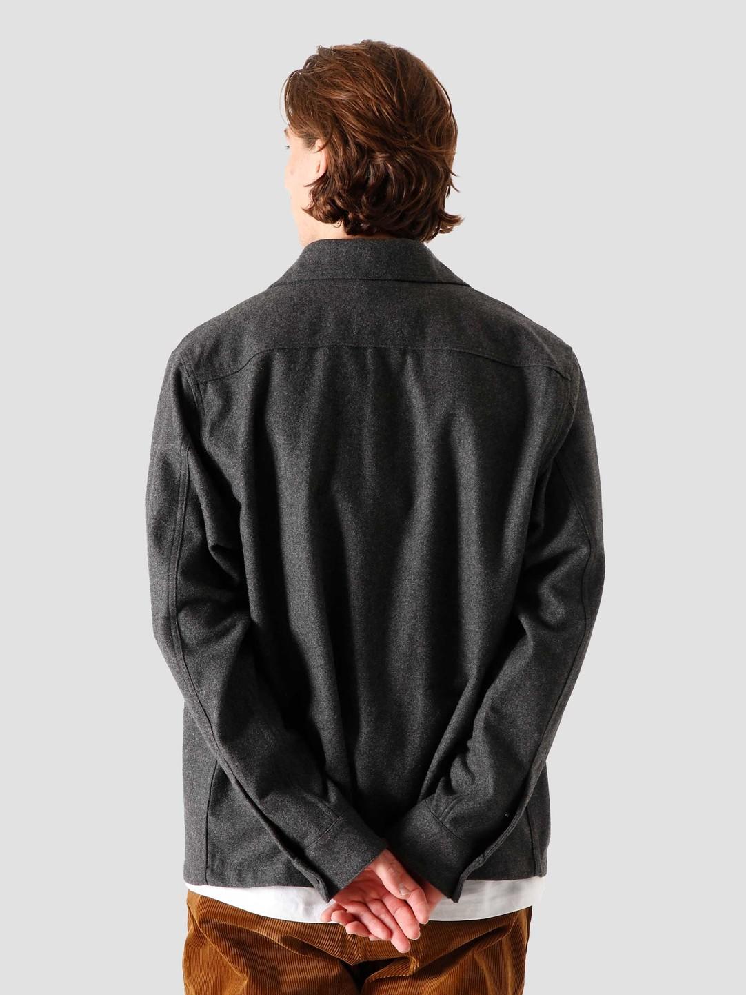 Quality Blanks Quality Blanks QB43 Wool Shirt Grey