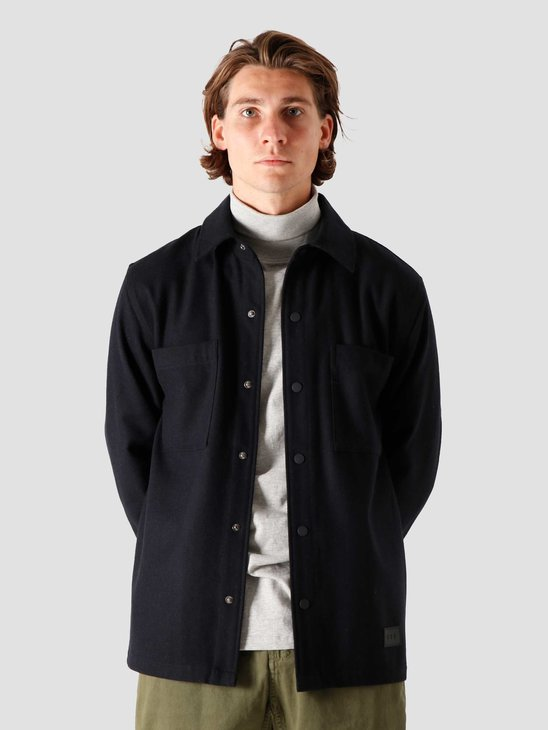 Quality Blanks QB43 Wool Shirt Navy