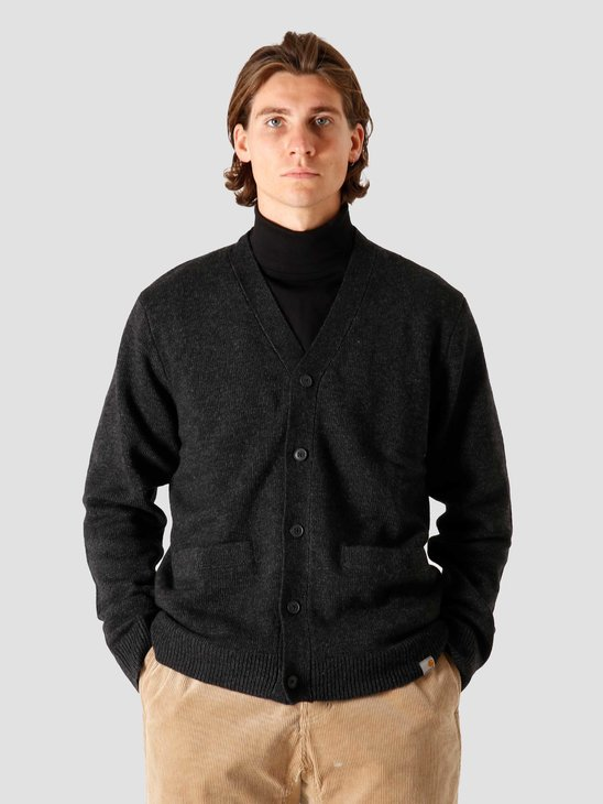Carhartt WIP Allen Cardigan Black Heather I028364-BT00