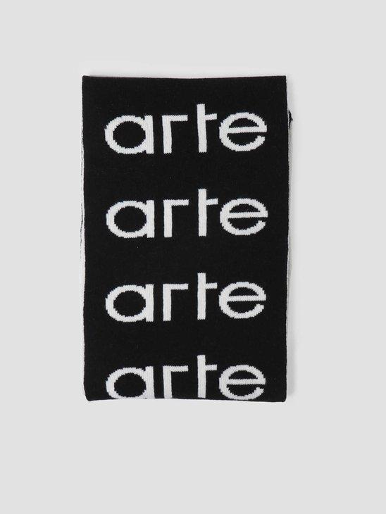 Arte Antwerp Multi Logo Scarf Scarf Black/White AW20-072SC
