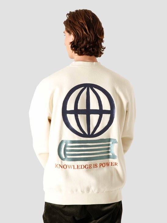 Obey Knowledge Crewneck Sweater Natural 112480077NAT
