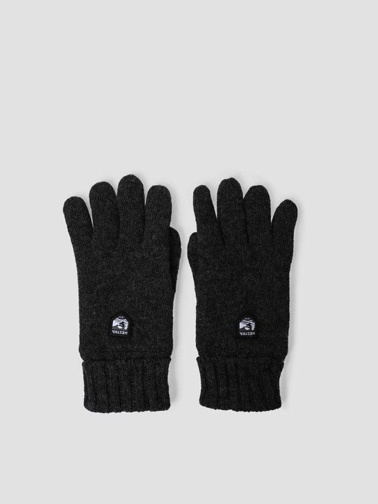 Hestra Basic Wool Glove Charcoal 63660-390