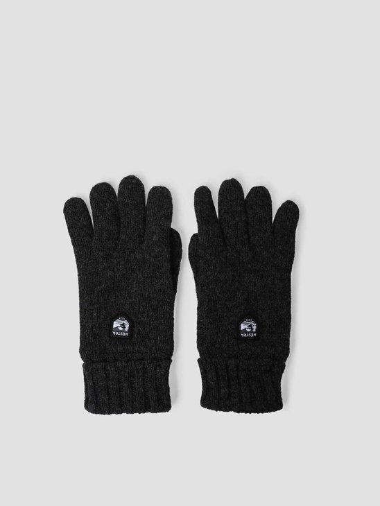 Hestra Basic Wool Glove  Charocoal 63660-390